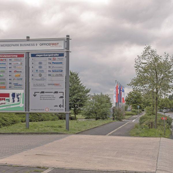 Besucher-Leitsystem Gewerbepark