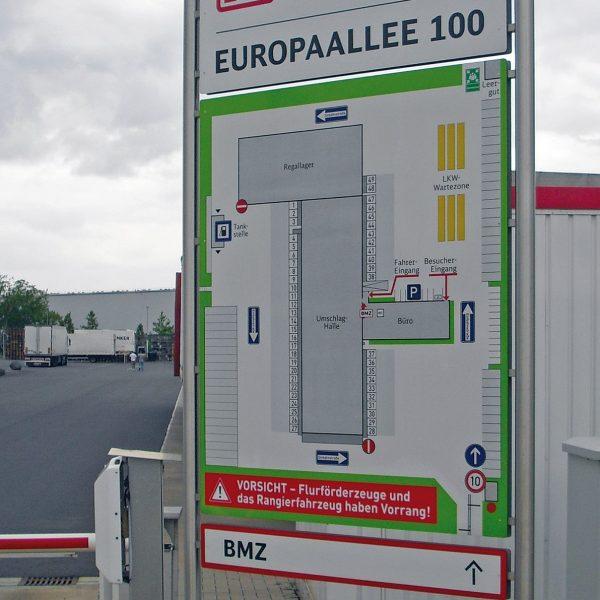 Besucher-Leitsystem Spedition Schenker Duisburg